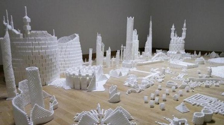 Мегаполис из сахара. Фото vk.com/evolution_science