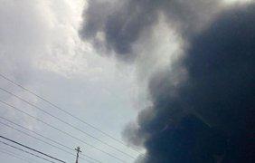 Взрыв в Василькове спровоцировал черный дождь. Фото Ирины Ванниковой