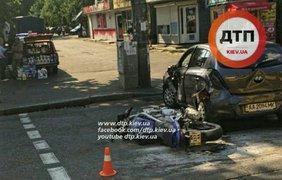 В ДТП серьезно пострадал пилот мотоцикла