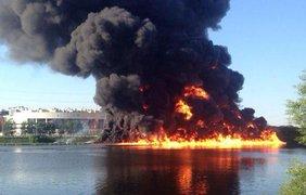 Пожар в Москве. Фото @usolt