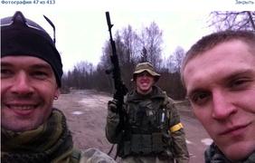 """Денис с """"русичами"""" переодетый в украинских солдат с желтым скотчем"""