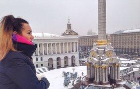 Стася в Киеве на Майдане