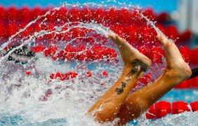 Итальянская пловчиха Федерика Пеллегрини выступает в предварительном раунде соревнования по фристайлу на 200 метров на Чемпионате мира по водным видам спорта 2015 в Казани, 4 августа.