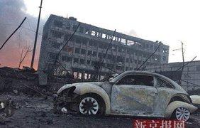Последствия взрыва в Китае