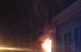 В исторической части Тернополя бушует пожар