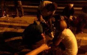 Полиция применила против мигрантов слезоточивый газ