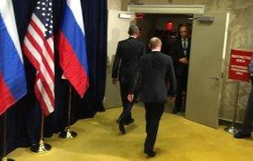 Обама встретился с Путиным. Фото Twitter/Дмитрий Смирнов