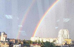 Радуга была видна практически во всех районах столицы. Instagram/stanishevska