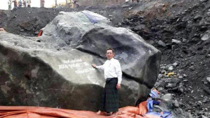 Крупнейший самородок нефрита массой 175 тонн обнаружили вМьянме