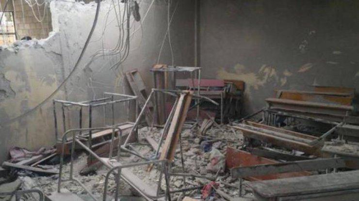 Школу вИдлибе разбомбил сирийский либо русский самолет— США
