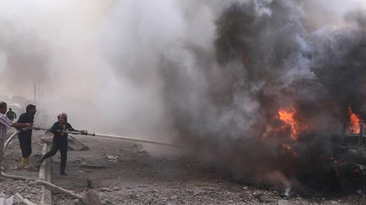 ВСирии смертник взорвал себя насвадьбе