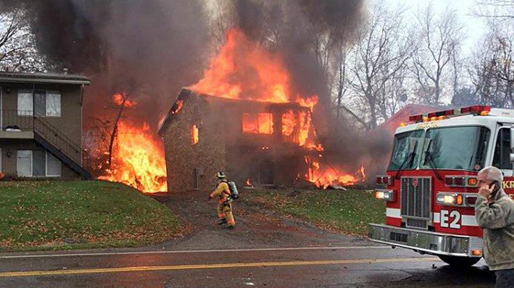 Вамериканском штате Нью-Джерси взорвался дом