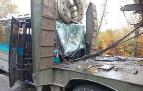 Страшное ДТП в Винницкой области: автобус врезался в тягач (фото: vn.npu.gov.ua)