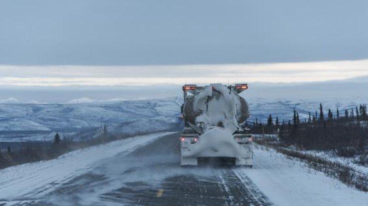 ВКиеве из-за снегопада ограничат заезд для фур