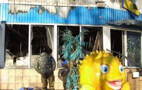 В Донецке полностью сгорел дельфинарий (фото: 62.ua)