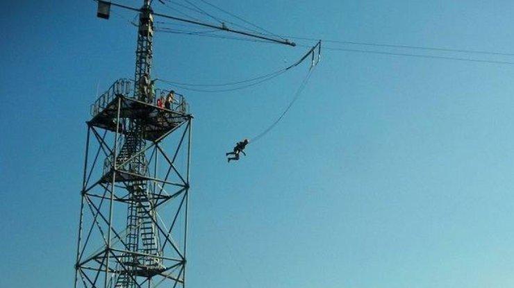 Белорус макнул драник всметану впрыжке с25-метровой высоты