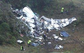 Жуткие кадры с места крушения самолета / Фото: AP