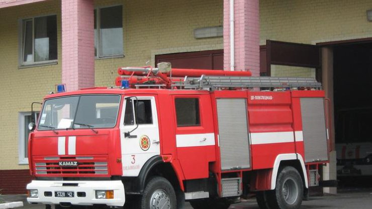 ВБорисполе произошел масштабный пожар нарынке