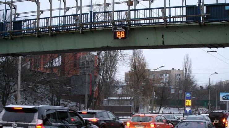 ВКиеве наулице Телиги установили первое «умное» табло контроля скорости