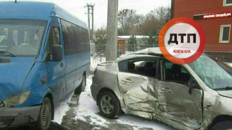 Вцентре столицы Украины случилось серьезное ДТП