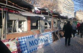 В Киеве посреди ночи разгромили МАФы