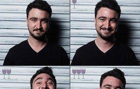 Как выпивка меняет выражение лица (фото: Marcos Alberti)
