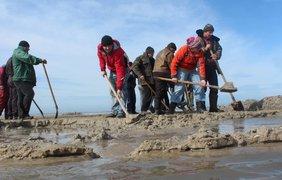 Путь к морской воде прорывали традиционным методом