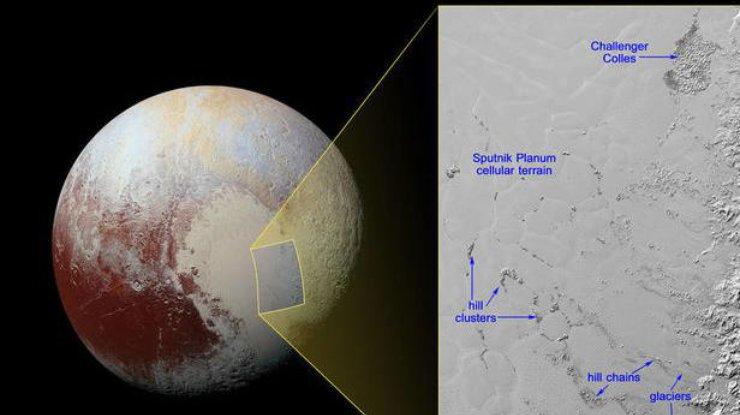 ВNASA показали снимки огромных айсбергов наПлутоне