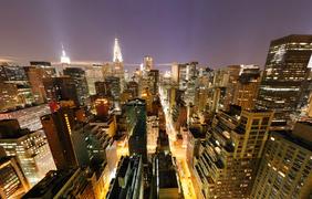 Ночной Манхеттен. Фото: airpano.ru