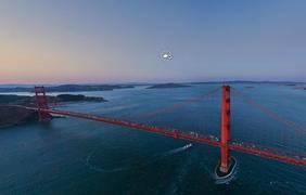 """Туманный мост """"Золотые ворота"""" в Сан-Франциско. Фото: airpano.ru"""