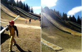 Украинские спортсмены по прыжкам на лыжах с трамплина выступали в ужасных условиях