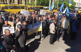 Активисты митингуют у стен Министерства социальной политики / Фото: Оксана Лой