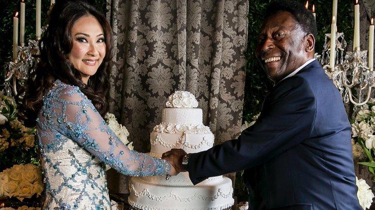 Свадьба Пеле и Марсии прошла в городе Гуаружа что в Сан-Паулу