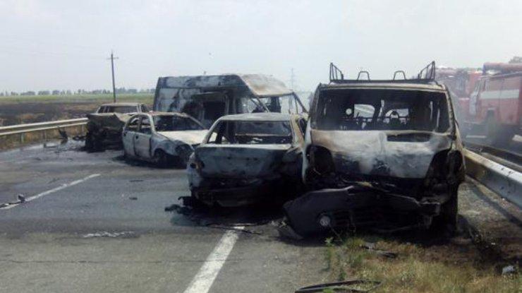 Жуткове ДТП наКировоградщине: разбились 8 автомобилей, погибли 3 человека