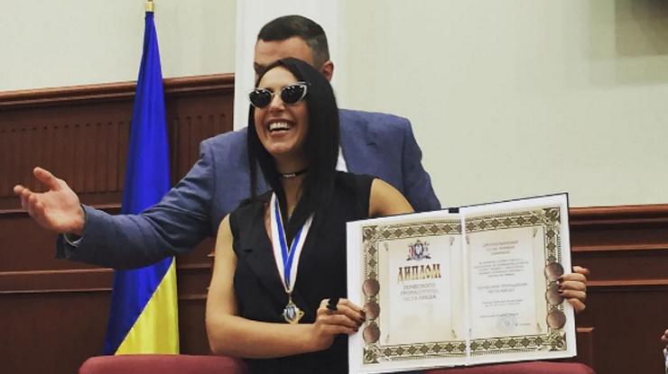 Эстрадная певица Джамала стала почетным гражданином украинской столицы