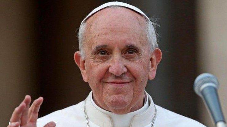 Папа римский Франциск молится замир вгосударстве Украина