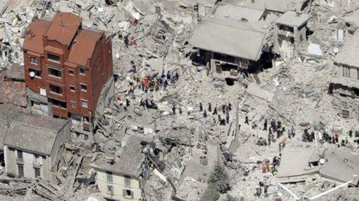 Около итальянского Аккумоли зафиксировали афтершок магнитудой 4,7