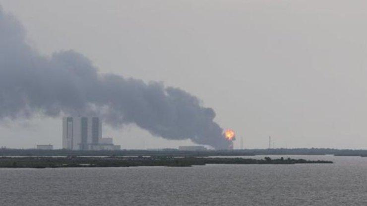 Взрыв ракеты Falcon воФлориде запечатлели камеры