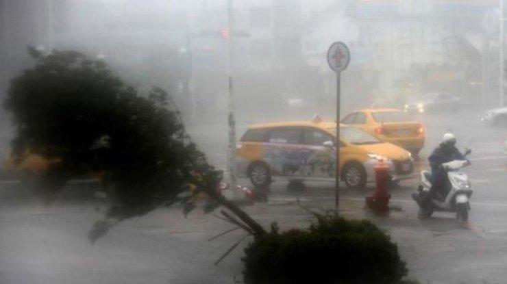 НаТайвань обвалился мощнейший тайфун Меранти