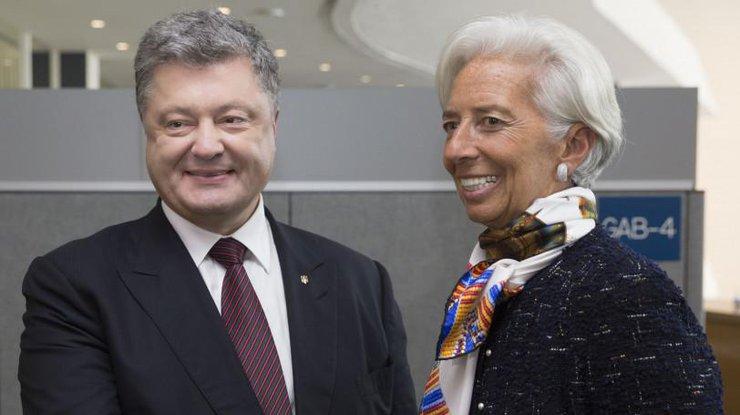 Порошенко иЛагард договорились оприезде миссии МВФ на Украинское государство данной осенью