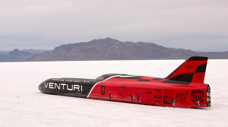 Компания Вентури установила новый мировой рекорд скорости среди электрокаров