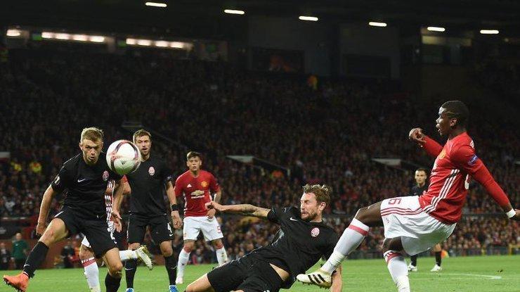«Заря» сминимальным счетом уступила «Манчестер Юнайтед»— Лига Европы