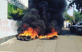 Пожар устроили намеренно. Фото: Podrobnosti.ua