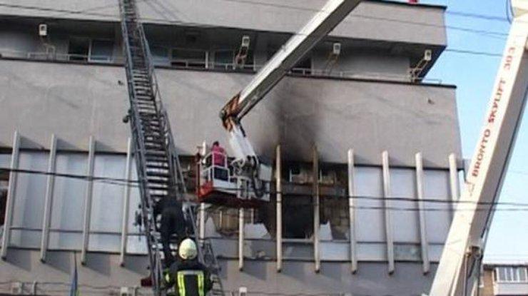 МИД призвал «кураторов» украинской столицы оценить поджог здания канала «Интер»