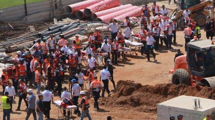 Настройке вТель-Авиве упал кран, двое погибли