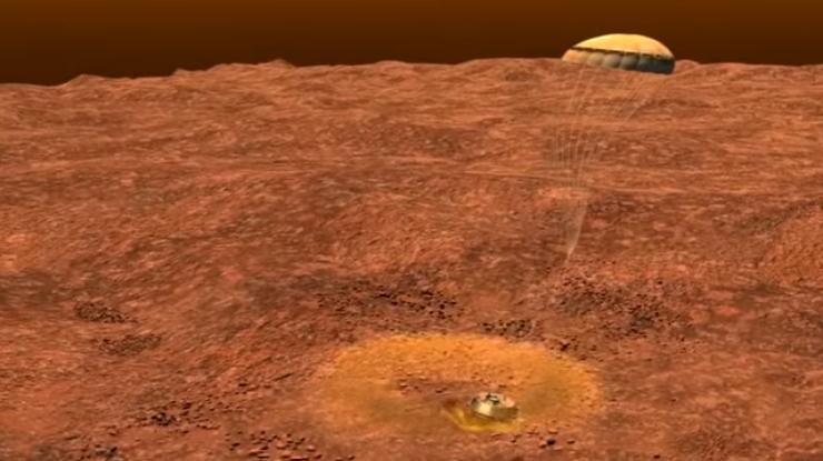 NASA показало, как зонд спускается наТитан