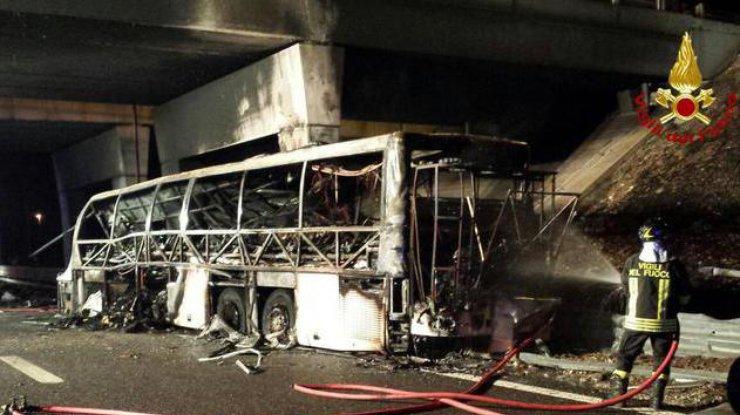 Венгерские школьники погибли в трагедии автобуса вИталии