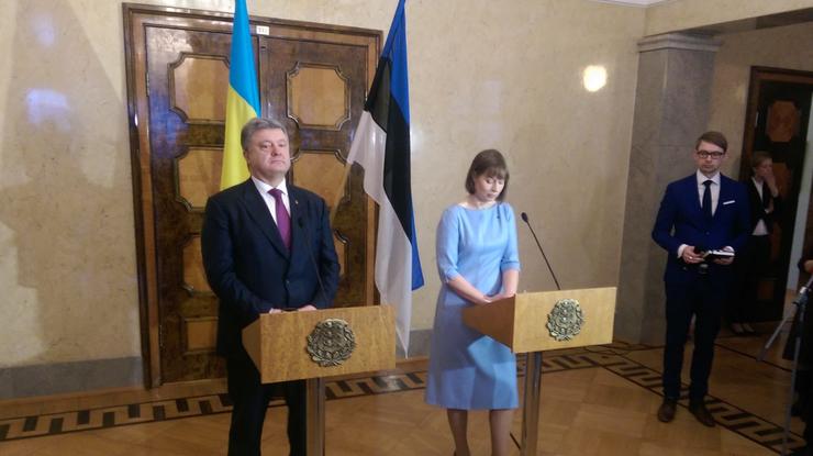 Президент Украины Петр Порошенко встретился спрезидентом Эстонии