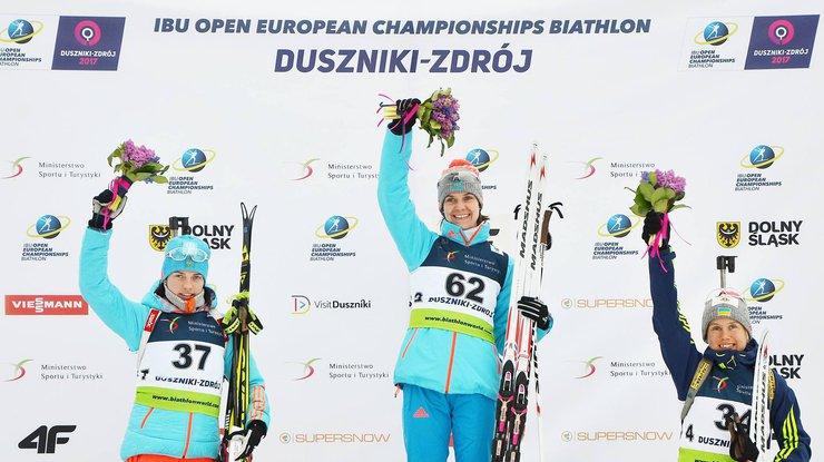 Меркушина завоевала бронзу начемпионате Европы— Биатлон