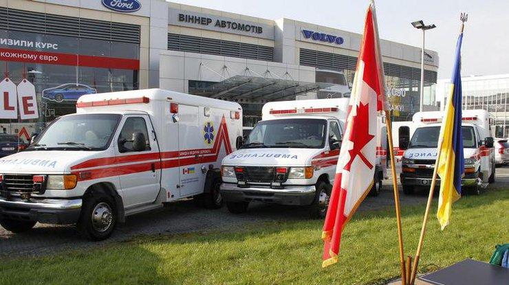 Канада сообщила Украине 10 машин «скорой помощи»